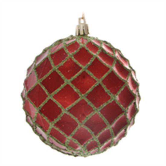 Pino Apple Green Vermelho 10 cm (Bolas)  - 1  Jogo com 6 Peças