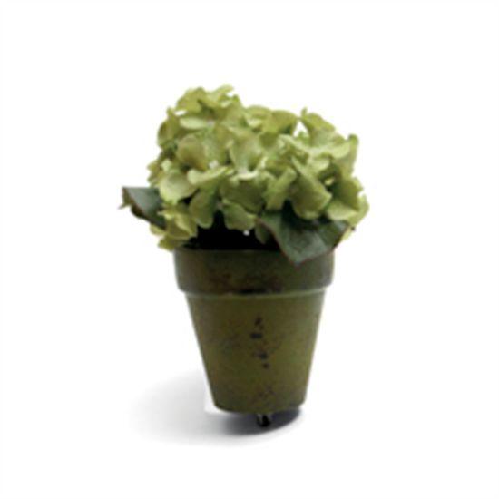 Hortencia em Vaso com Clip Verde Bandeira (Cereja) - 3 Unidades