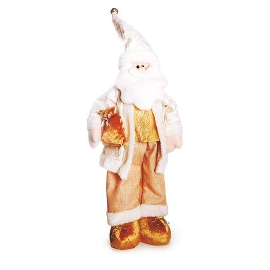 Papai Noel em Pé com Presente Branco 80cm (Dinamarca) - 1 Unidade