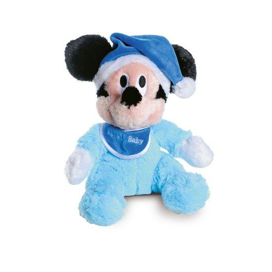 Natal Disney - Baby Mickey de Pelúcia Azul Claro 22cm - 1 Unidade