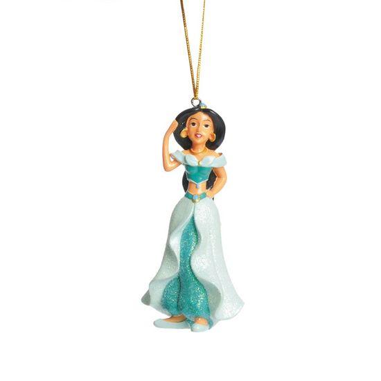 Natal Disney - Enfeite para Pendurar - Jasmine Azul 10cm - 3 Unidades