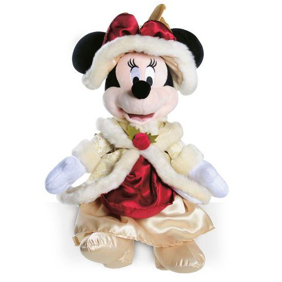 Minnie Vitoriana de Pelúcia Ouro e Vermelho 45 cm (Disney)  - 1 Unidade