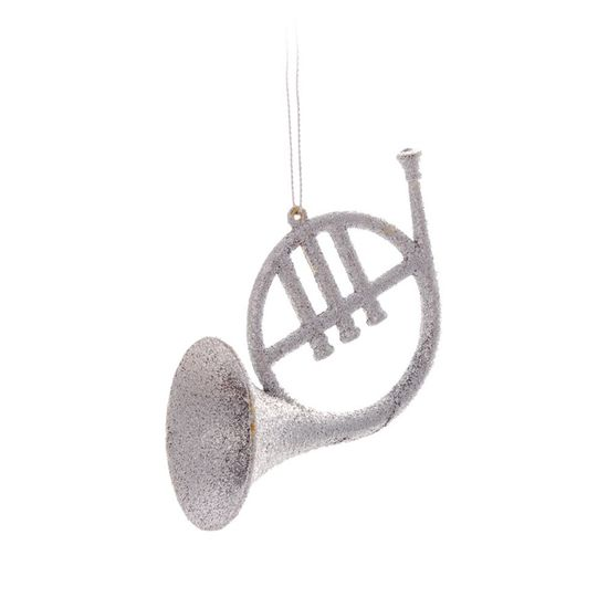 Enfeite para Pendurar - Saxofone Prata (Enfeites) - Jogo com 2 Peças