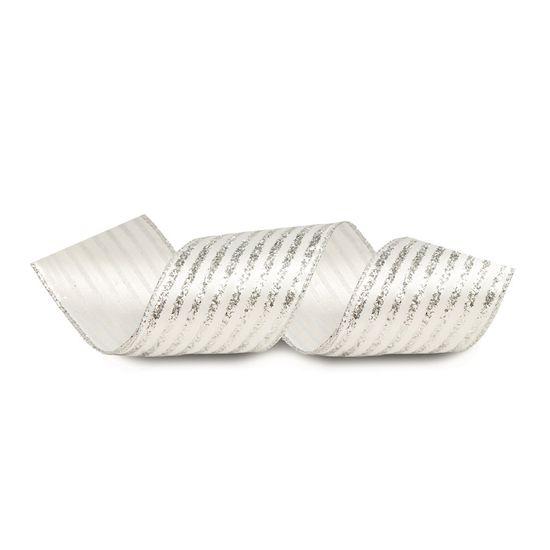 Fita Prata 6,3 cm x 9,14 mts (Fitas Natalinas) - 3 Unidades