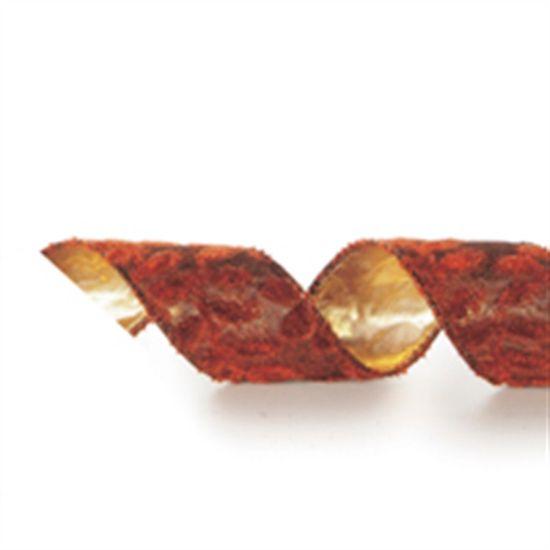 Fita de Natal Marrom 3,8cm (Fita para Presente) - 3 Unidades