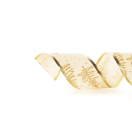 Fitas Pinheiros Ouro 6,3cm (Fita para Presente) - 3 Unidades