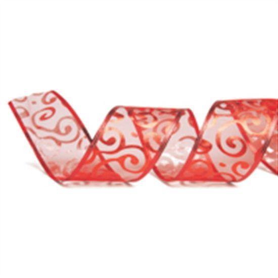 Fita Vermelho 6,3 cm x 9,14 mts (Fitas Natalinas) - 3 Unidades