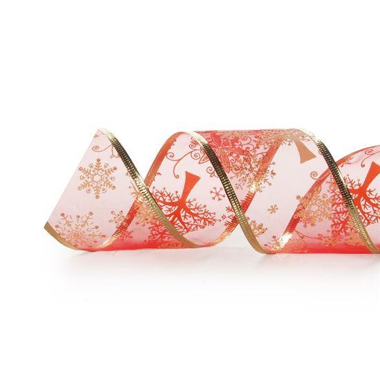 Fita de Natal Vermelho 6,3cm (Fita para Presente) - 3 Unidades