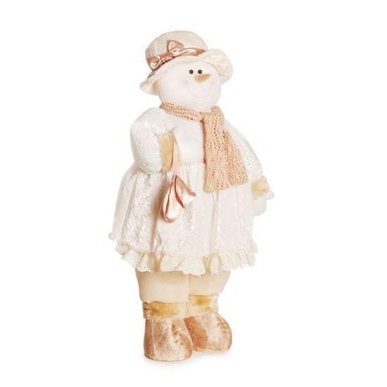 Boneco de Neve Fem com Bolsa Branco e Marfim 70 cm (Dinamarca)  - 1 Unidade