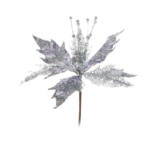 Flor Prata (Flores Cabo Curto)  - 12 Unidades