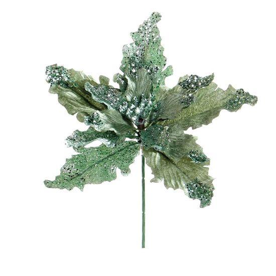 Poinsettia Verde Claro (Flores Cabo Curto)  - 12 Unidades