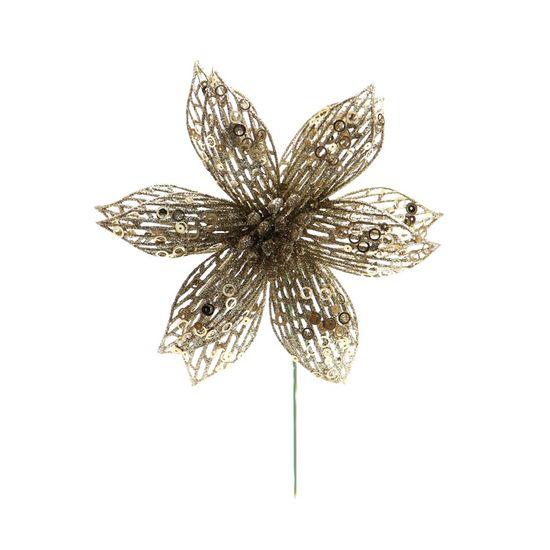 Poinsettia Nude (Flores Cabo Curto)  - 12 Unidades