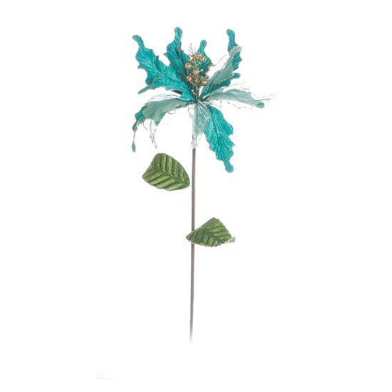 Poinsettia Verde Claro (Flores Cabo Longo) - 1 Unidade