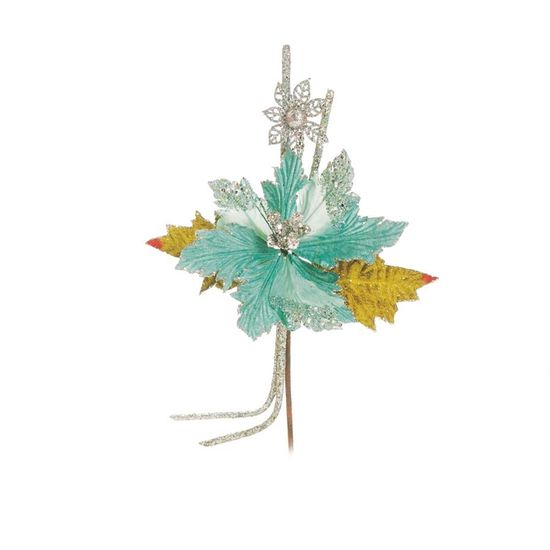 Poinsettia Verde Claro (Flores Cabo Médio) - 1 Unidade