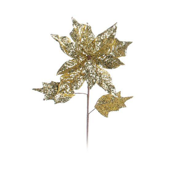 Poinsettia Ouro (Flores Cabo Médio) - 1 Unidade