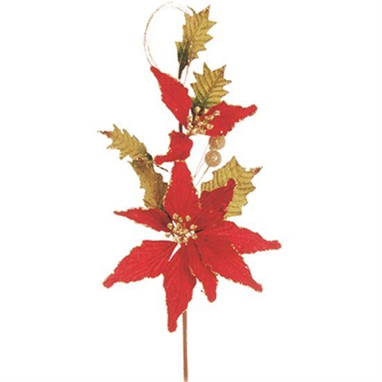 Poinsettia Vermelho (Flores Cabo Médio) - 6 Unidades