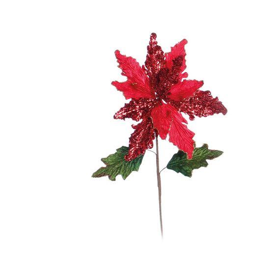 Poinsettia Vermelho (Flores Cabo Médio) - 3 Unidades