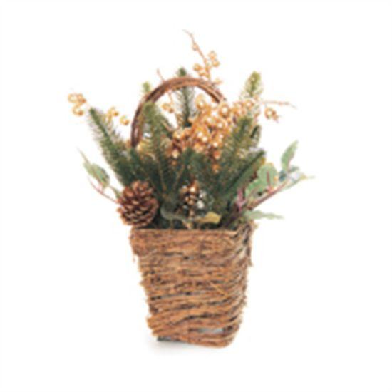 Arranjo Cesta Frutas e Flor Ouro (Arranjos de Mesa) - 1 Unidade