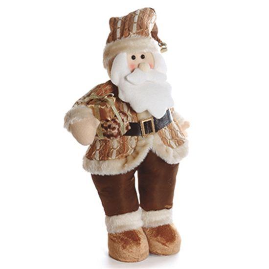 Papai Noel em Pé Segurando Presente