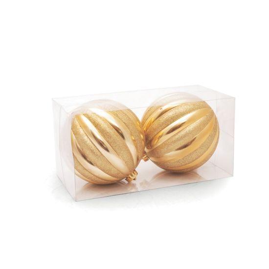 Bola Ouro 15 cm (Bolas)  - 4  Jogos com 2 Peças