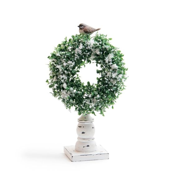 Guirlanda de Natal com Neve Verde Claro (Topiarias e Mini Árvores)  - 2 Unidades