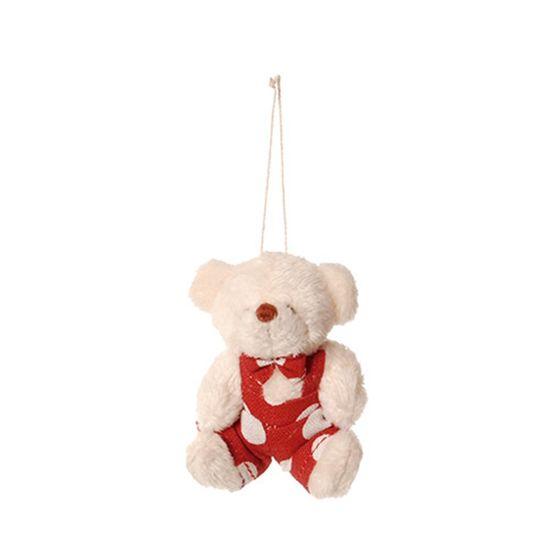 Urso Macacão Poá Vermelho e Branca (Patchwork Vermelho)  - 6 Unidades