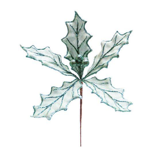 Galho Poinsetia Juta Verde Claro (Galhos Curtos) - 6 Unidades