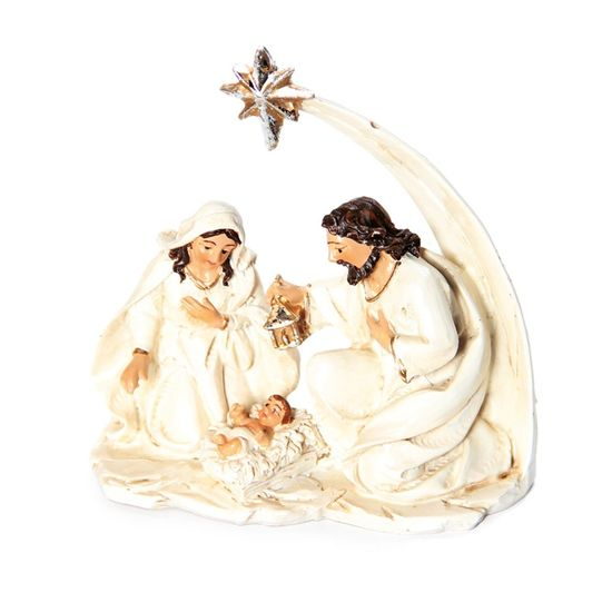 Sagrada Família de Resina Branca 10 cm (Sagrada Família)  - 6 Unidades