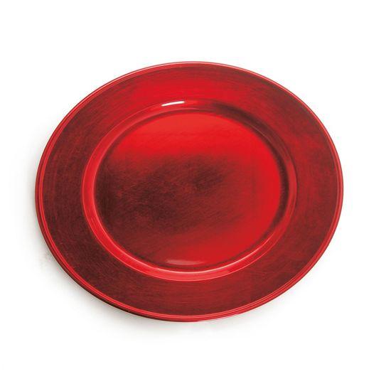 Sousplat Redondo Liso Vermelho (Souplats) - 1 Unidade