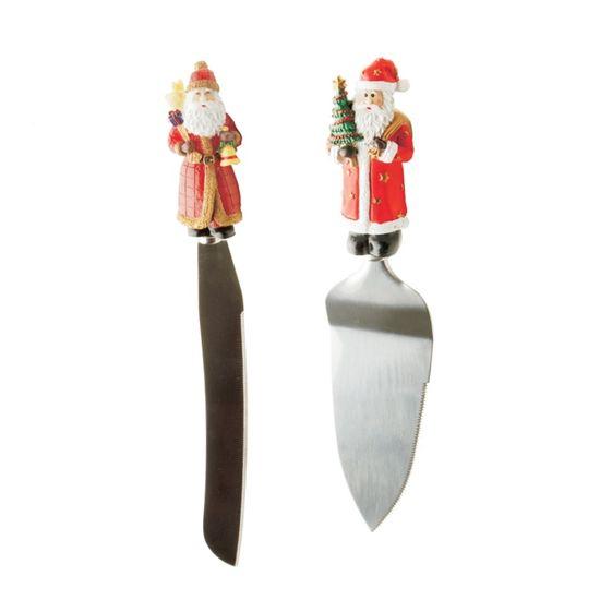 Utensilio para Cozinha (Talheres de Natal) - 2 Jogos com 2 Peças