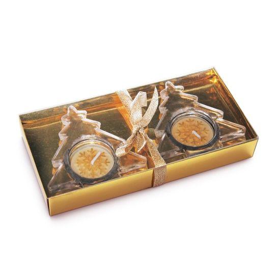 Kit Vela e Porta Vela Ouro (Velas em Kits)  - 6  Kit com 4 Peças