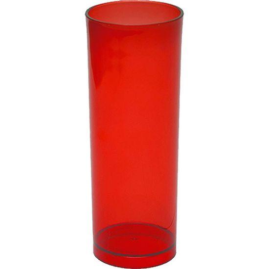 Copo Acrílico Long Drink Color 300ml - Vermelho