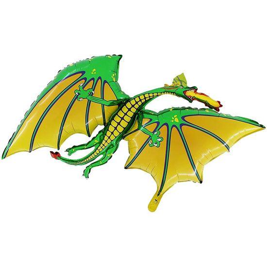 FL - Balão Metalizado Corpo 32 Polegadas Dragão Verde