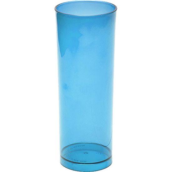 Copo Acrílico Long Drink Color 300ml - Azul