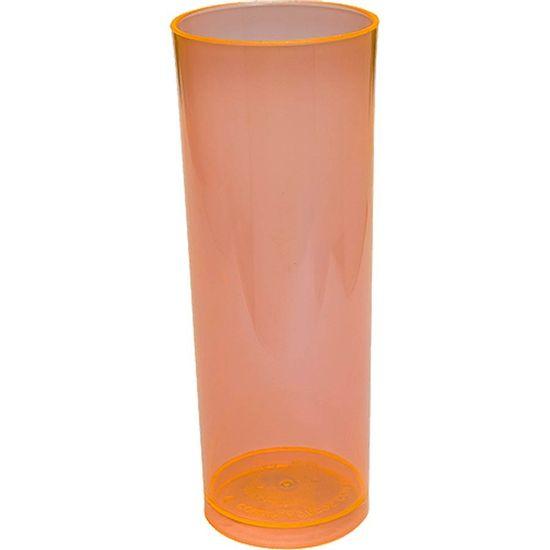 Copo Acrílico Long Drink Color 300ml - Laranja