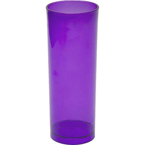 Copo Acrílico Long Drink Color 300ml - Roxo