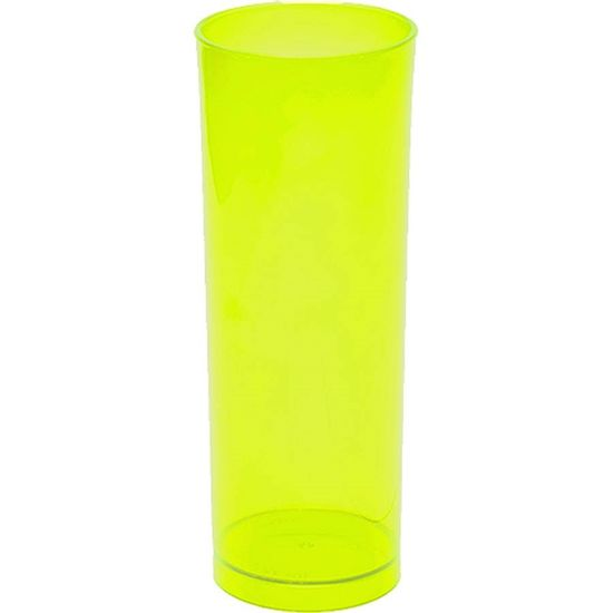 Copo Acrílico Long Drink Color 300ml - Verde Neon