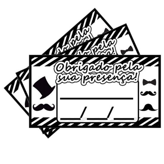 FL - Tags SEM Furo Festa Bigode - 15 unidades