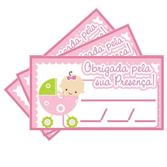 Tags SEM Furo Chá de Bebê Rosa - 15 Un