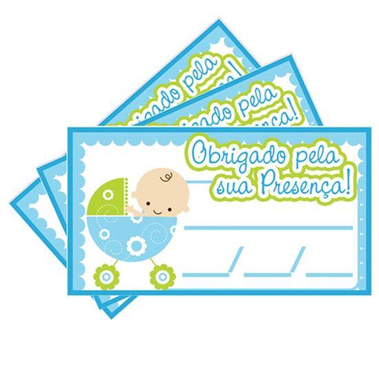 Tags SEM Furo Chá de Bebê Azul - 15 unidades
