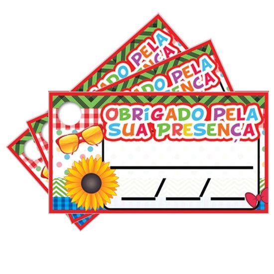 Tags COM Furo Festa Brega - 15 unidades