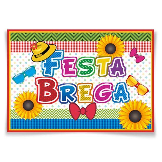 Painel Horizontal Festa Brega - 106x75cm