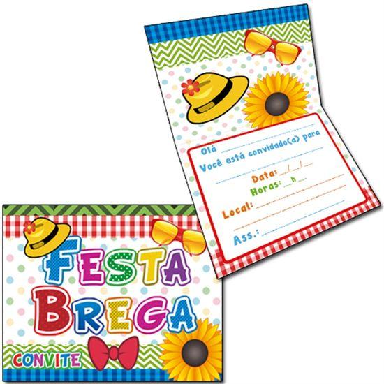 Convite Especial Festa Brega - 08 unidades
