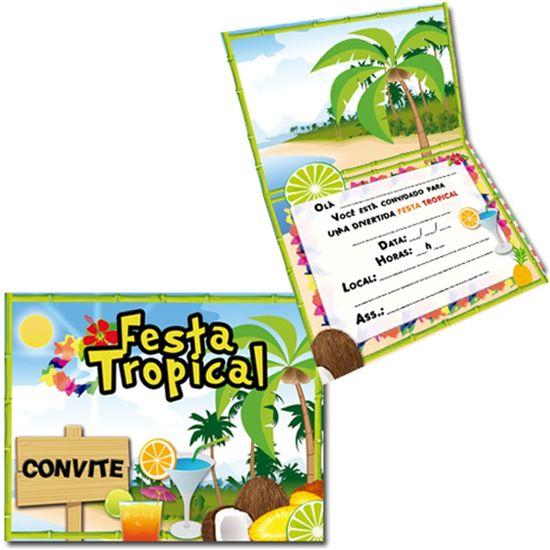 Convite Especial Festa Tropical - 08 unidades