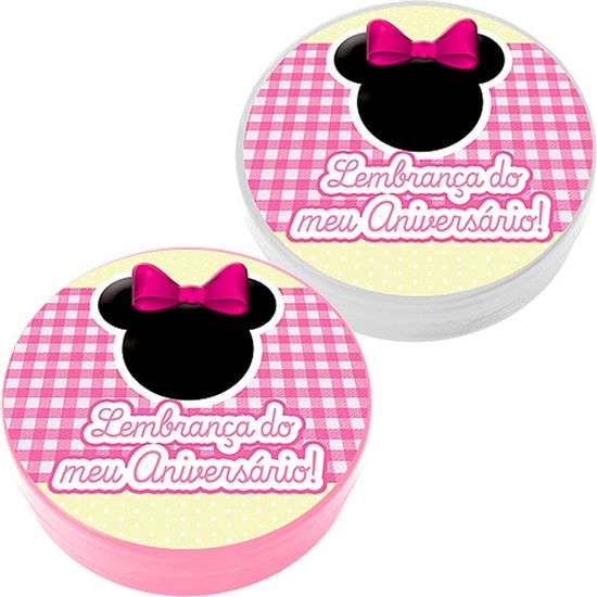 FL - Latinha Plástica 5x1 Lembrancinha Baby Minnie