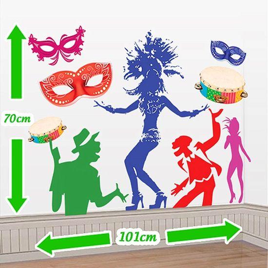 Cenário Adesivo Carnaval - Pessoas Dançando