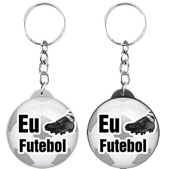 Chaveiro Plástico Especial Eu Jogo Futebol