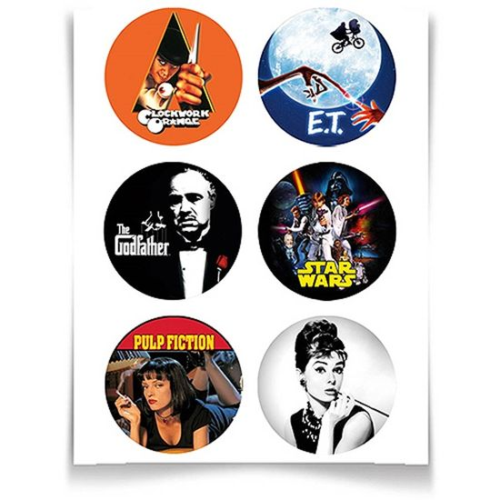 Adesivo Especial Redondo Filmes Clássicos - 12 unidades