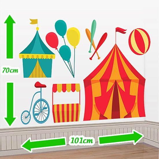 Festa Circo - Cenário Adesivo Festa Circo Cenário Adesivo Festa Circo