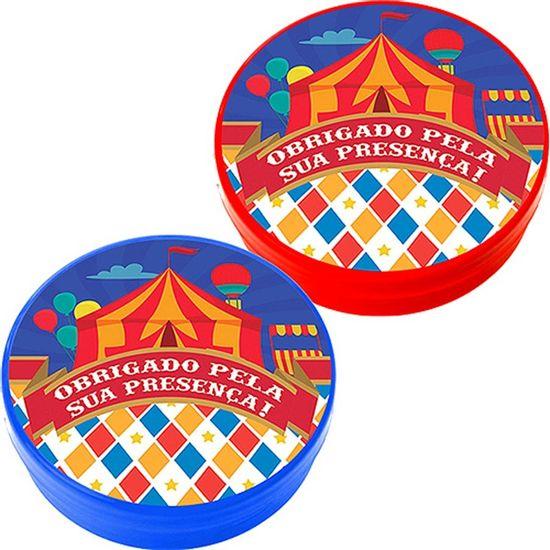 Festa Circo - Latinha Plástica 5x1 Lembrancinha Circo Latinha Plástica 5x1 Lembrancinha Circo